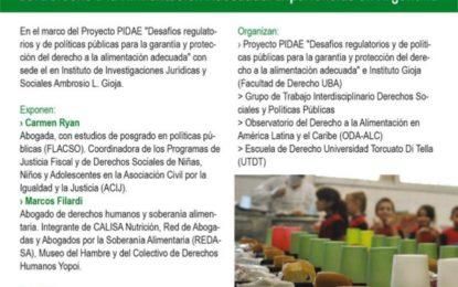 Ciclo de Debates sobre el derecho a la alimentación «Acciones de incidencia y de litigio para la promoción y defensa del Derecho a la Alimentación Adecuada. Experiencias en Argentina»
