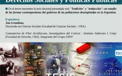 """Ciclo Permanente de Tesis """"Tradición"""" y """"traducción"""" – Martes 2 de septiembre de 2014 de 17 a 19.30 hs."""