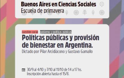 Seminario «Políticas Públicas y provisión de bienestar en Argentina»