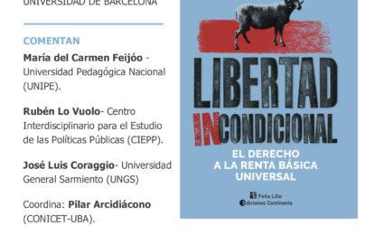 """Presentación del libro """"Libertad incondicional. El derecho a la Renta Básica Universal"""" de David Casassas (Universidad de Barcelona)"""