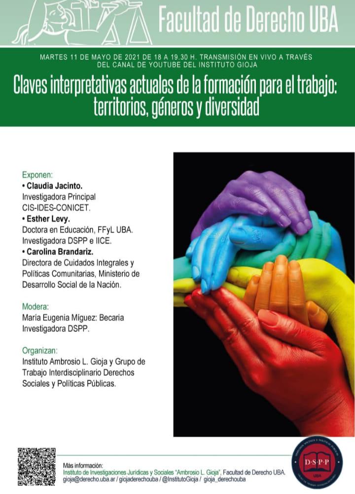 Seminario «Claves interpretativas actuales de la formación para el trabajo: territorios, géneros y diversidad