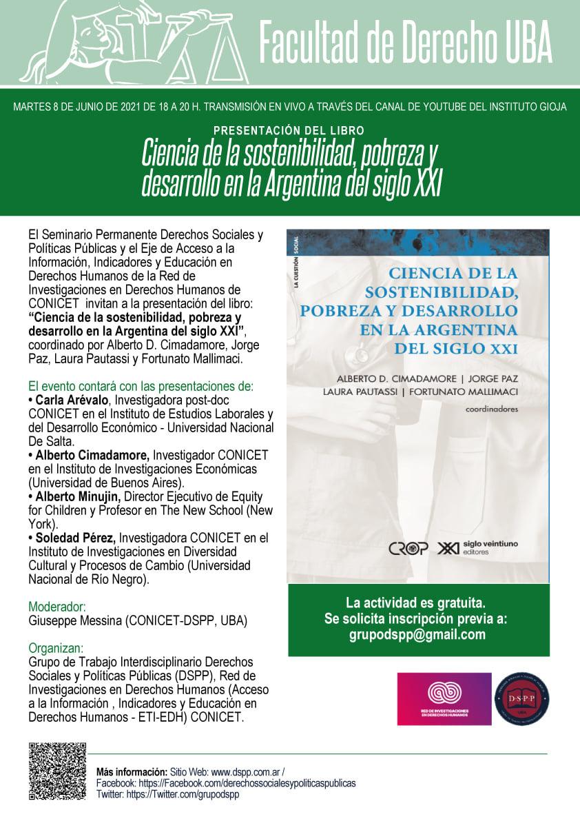 Presentación del libro Ciencia de la sostenibilidad, pobreza y desarrollo en la Argentina del Siglo XXI