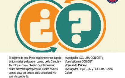 """Próximo Seminario DSPP: """"Las políticas científicas en agenda. Un diálogo abierto""""."""
