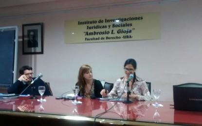Presentaciones de tesis en el marco del Seminario Permanente del Instituto de Investigaciones Jurídicas y Sociales Ambrosio L. Gioja